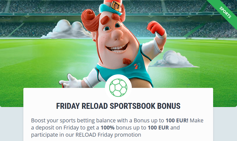 22bet friday reload bonus